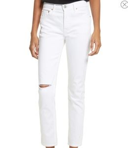 GRLFRND Denim  White The Naomi Jeans